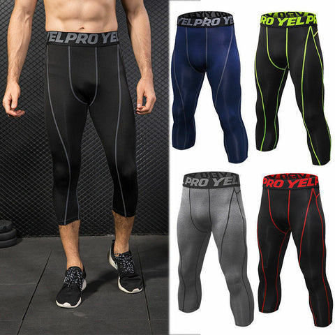 Men's Capri Compression Pants