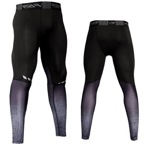 Men's Compression Pants--Grey or Red--Sizes S-3XL