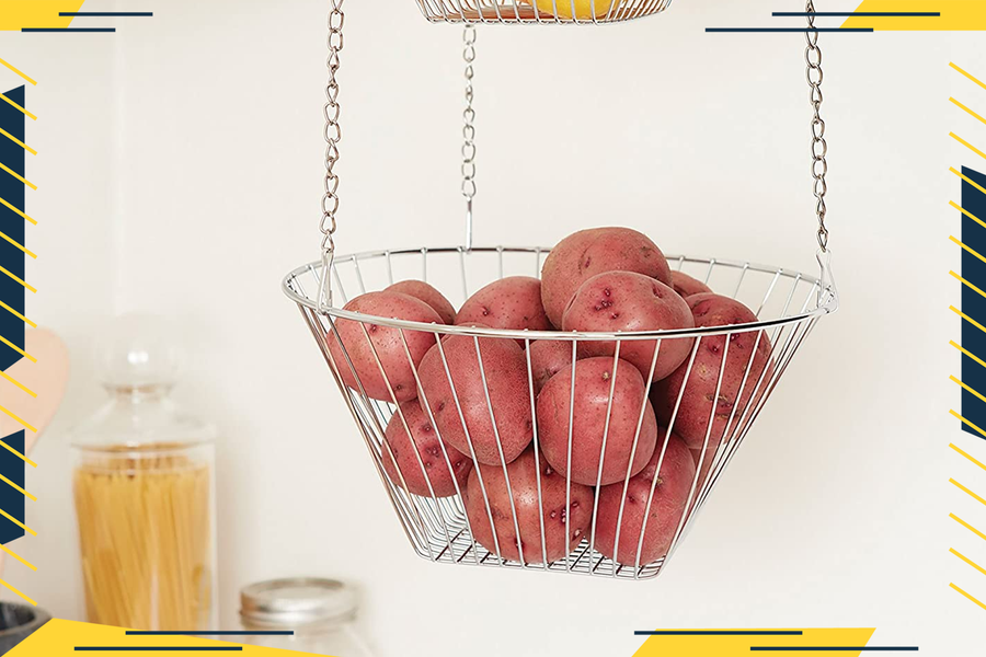 Hanging Fruit Baskets are the Space-Saving Kitchen Hack That Will Also Help Keep Food Fresh