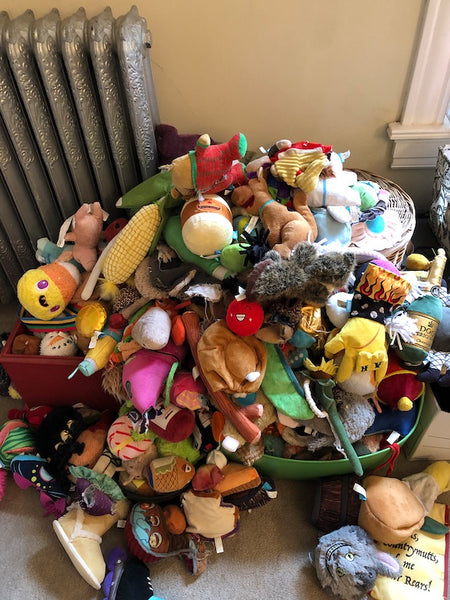 Decluttering dog toy