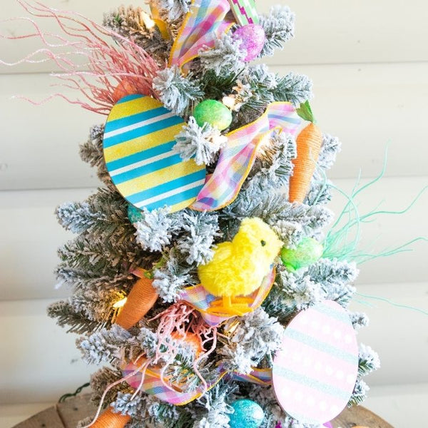 Check out this Dollar Tree Easter tree idea for a fun way to keep your tree up a bit longer, and decorate for Easter