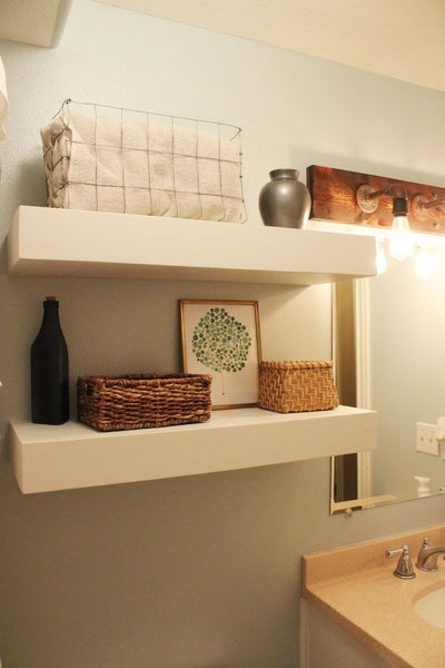 Do you love the contemporary look and feel of floating shelves…but feel intimidated by tackling such a project yourself? I want to let you in on a little secret – building and mounting your own chunky floating shelves is much easier than it might...