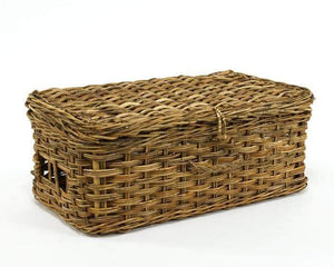 Cottage Rattan Suitcase Storage Basket