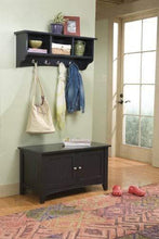 Load image into Gallery viewer, Buy now alaterre shaker cottage wall mounted coat hooks with 3 cubbies charcoal gray