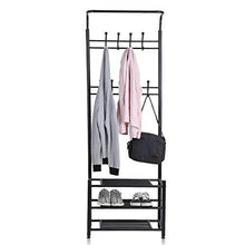 Load image into Gallery viewer, Cheap moorecastle multi purpose entryway shoes storage organizer hall tree bench with coat rack hooks clothes stand perfect home furniture