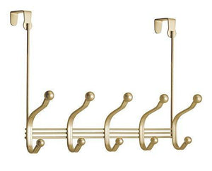 Order now mdesign over door 10 hook steel storage organizer rack for coats hoodies hats scarves purses leashes bath towels robes gold brass