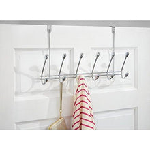 Load image into Gallery viewer, Storage organizer watimas over door storage rack organizer hooks for coats hats robes clothes or towels