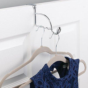 Heavy duty watimas over door valet hook for clothes hangers storage for coats hats robes clothes or towels
