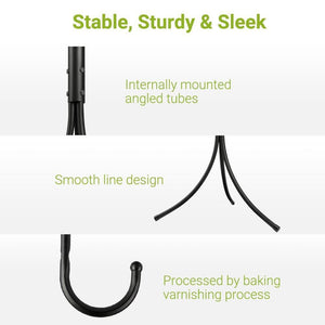 Discover cozzine coat rack coat tree hat hanger holder 11 hooks for jacket umbrella tree stand with base metal black