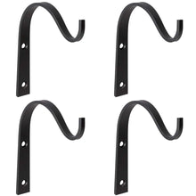 Load image into Gallery viewer, Cheap mkono 4 pack iron wall hooks metal decorative heavy duty hangers for hanging lantern planter bird feeders coat indoor outdoor rustic home decor screws included