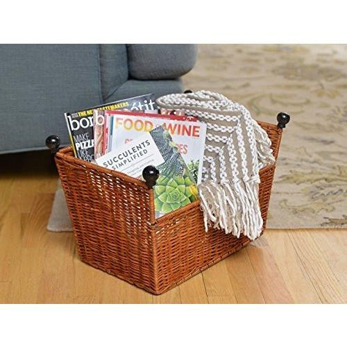 Decorative Floor Wicker Storage Basket