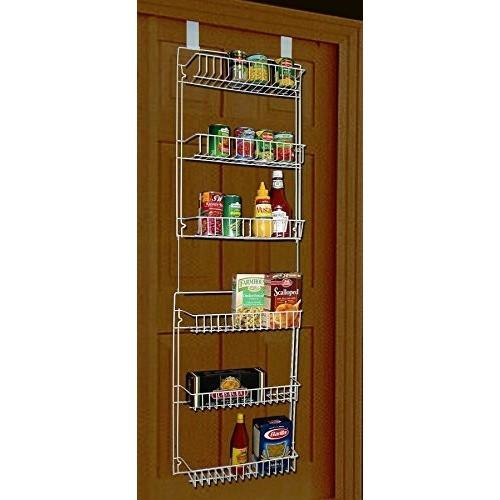 6 Tier 5 Foot Over the Door Pantry Storage Basket Rack