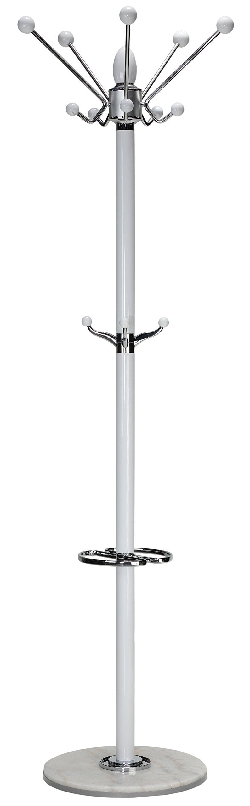 Purchase cortesi home lava coat rack in white lacquer wood and chrome accents white marble