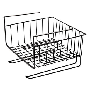 AIYoo Heavy Duty Under Shelf Basket with Paper Towel Holder for Pantry Cabinet Closet Wire Rack Storage Basket,Wardrobe,Office Desk Space Save Bathroom Kitchen Organizer Baskets for Extra Storage