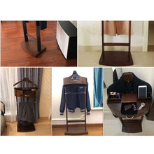 Load image into Gallery viewer, Discover amy wooden coat rack entrance hall tree hangers shoe rack hall tree storage shelf corridor bedroom living room storage rack