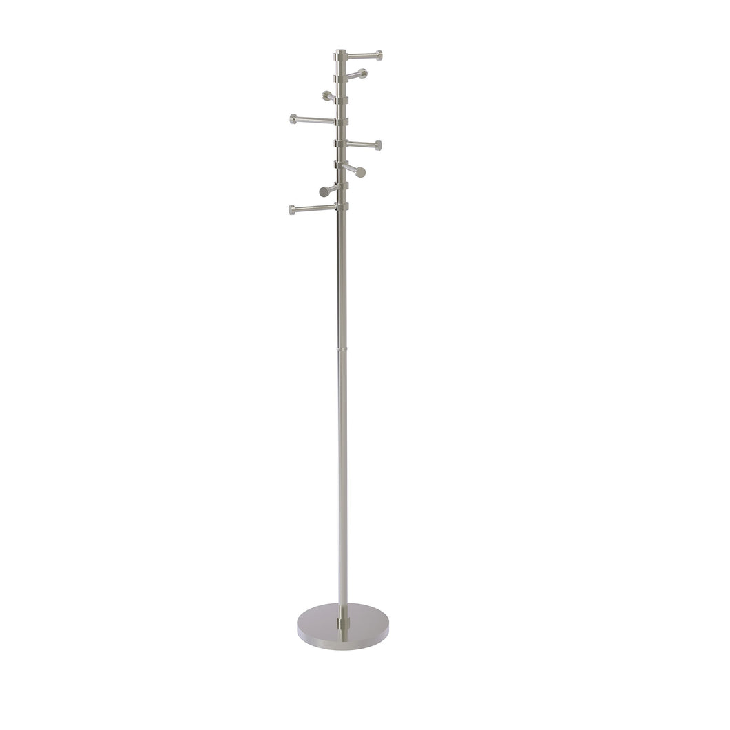Related allied brass cs 1 sn free standing coat rack with six pivoting pegs