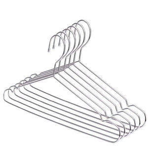 Top xyijia hanger super strong stainless steel metal wire hangers clothes hangers coat hanger suit hanger 30pcs lot
