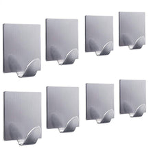 Load image into Gallery viewer, Explore fotyrig adhesive hooks wall hooks hangers waterproof stainless steel stick on hooks for hanging robe towel coat kitchen utensils keys bags home kitchen bathroom 8 packs