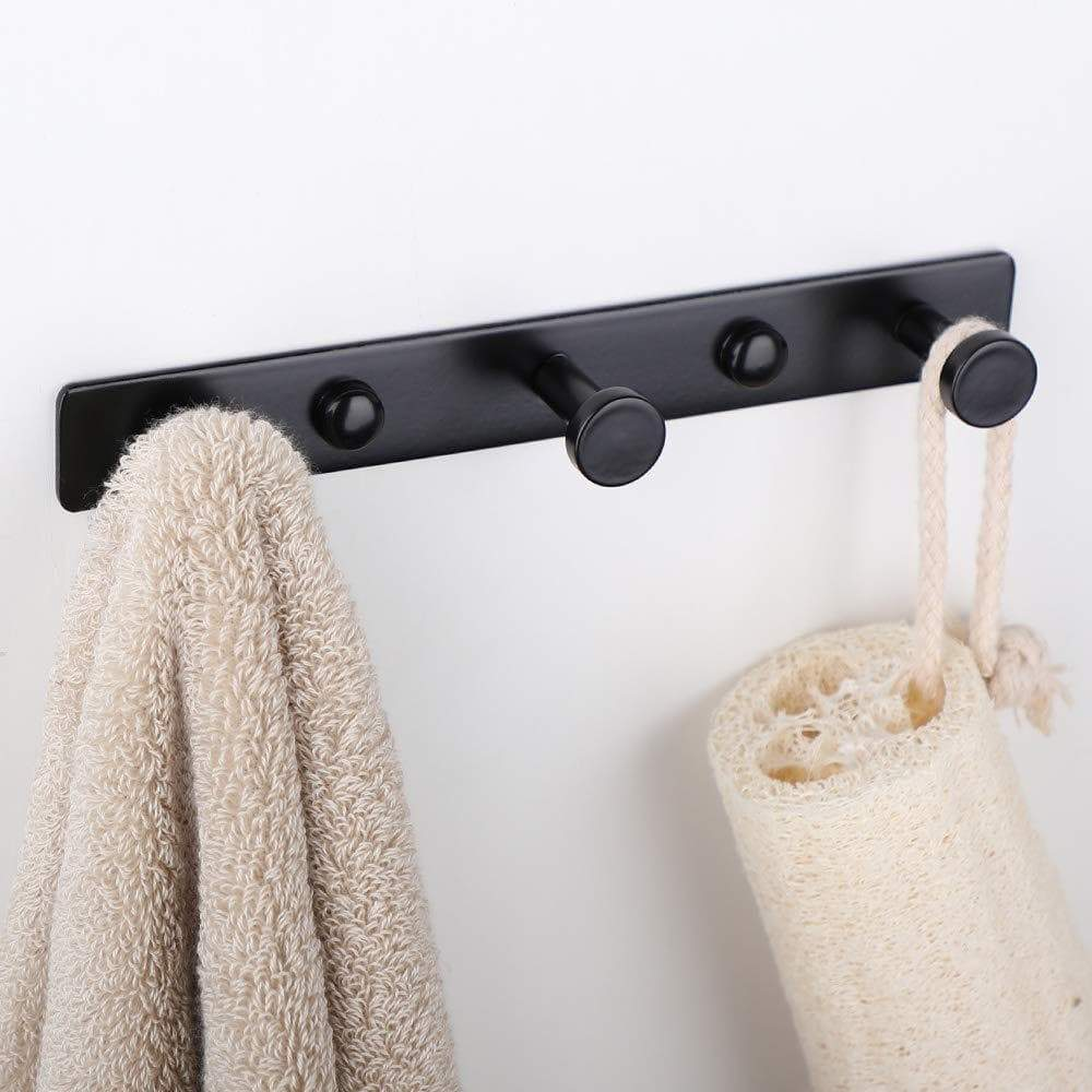 Shop here mellewell 2 pcs hook rail robe towel coat hooks bag hanger and bathroom kitchen accessories stainless steel black hr8021 3 2