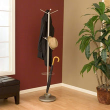 Load image into Gallery viewer, Discover adesso wk2048 22 quatro umbrella stand coat rack champagne steel