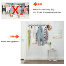 Load image into Gallery viewer, Related nidouillet coat hook wall mounted hook rack rail shelf 8 stainless steel hanger hooks storage organizer bathroom bedroom hats bags ab006