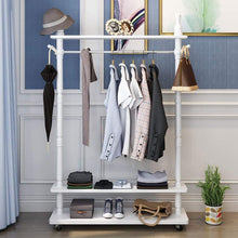 Load image into Gallery viewer, Amazon angels home standing coat racks wooden free to move white hall trees coat rack stand shoe rack hooks clothes stand tree stylish wooden hat coat rail stand rack clothes jacket storage hanger organiser