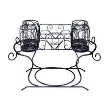 Load image into Gallery viewer, Online shopping homi styles buffet caddy for silverware plates utensils flatware black powered coated iron table organizer caddies luxury stackable picnic caddy 13 x 18 5 inches
