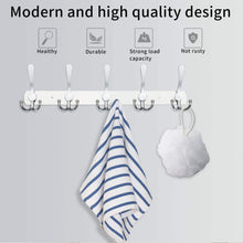 Load image into Gallery viewer, Kitchen wall mounted coat hook rack 2 pack 30 hooks stainless steel coat hangers rack robe hat hooks with sticker