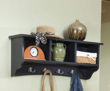 Load image into Gallery viewer, Discover the alaterre shaker cottage wall mounted coat hooks with 3 cubbies charcoal gray