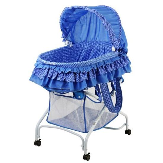 Dream On Me 2 in 1 Bassinet to Cradle in Blue - 440B