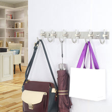 Load image into Gallery viewer, Buy now webi wall mounted coat rack hooks 30 inch 10 hooks coat hat hook rail heavy duty stainless steel 304 decorative robe hooks for bathroom kitchen entryway closet foyer hallway brushed nickel 2 packs