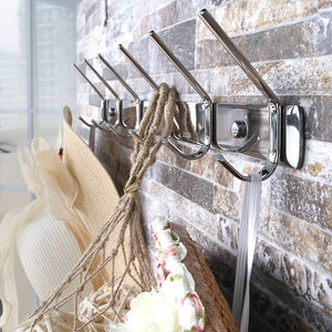 Discover the best webi sus304 heavy duty 8 peg large coat hat hooks robe bath kitchen towel utensil utility garment rack hanger rail holder wall mount bedroom entryway garage bathroom home organization polished