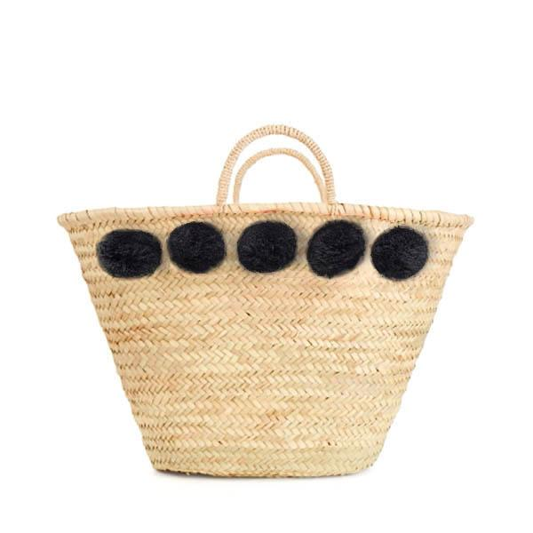 Bohemia Design Pom Pom Basket – Black