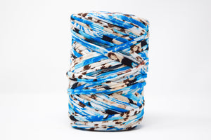 FABRIC YARN - MIA (BLUE WITH BROWN PRINT)