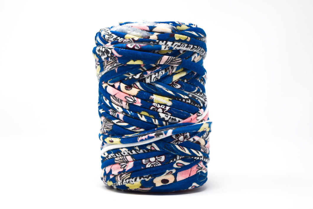 FABRIC YARN - AVERY  ( DARK BLUE FLOWER PRINT)