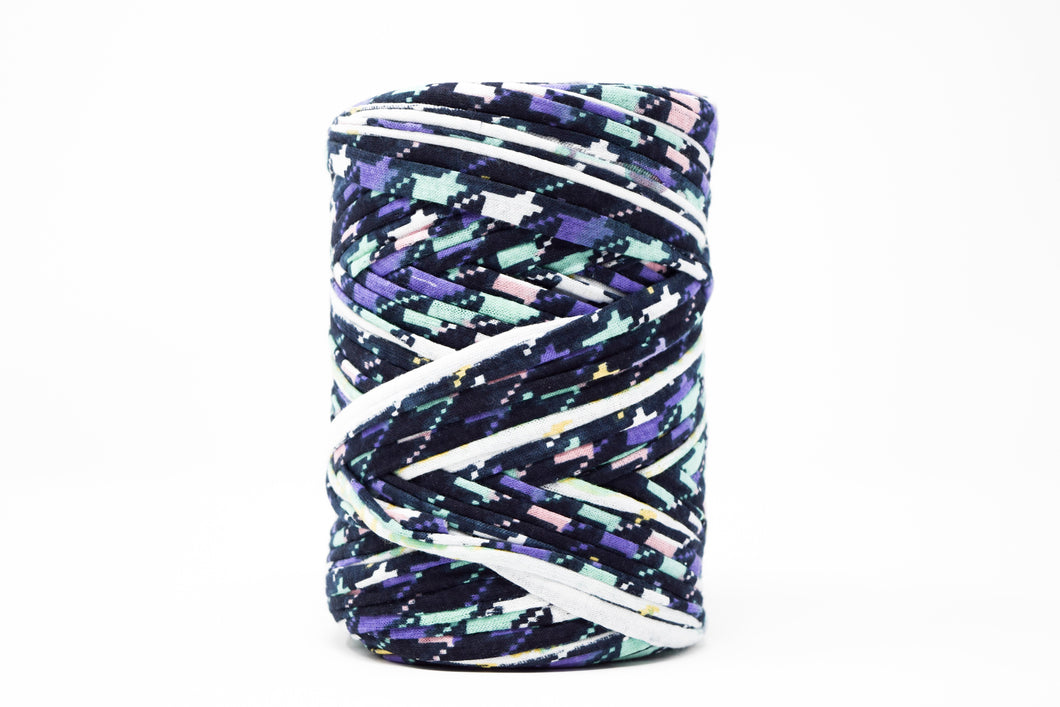 FABRIC YARN - STELLA ( PURPLE AND MINT GEOMETRIC PRINT)