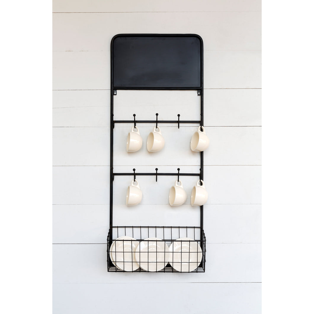 French Cafe Metal Bistro Wall Rack - 44-in