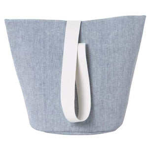 Chambray Basket with Webbing Strap - Blue
