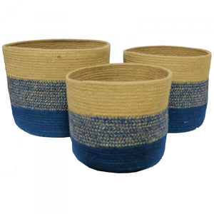 Jute Coastal Theme Storage Baskets - Laundry, Bathroom, Office & Kitchen Supplies
