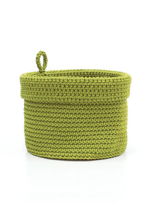 Mode Crochet 8X8 Basket W/Loop, Citron Green