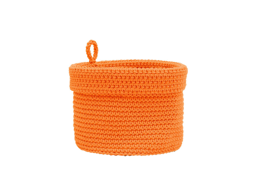 Mode Crochet 8X8 Basket W/Loop, Oyster