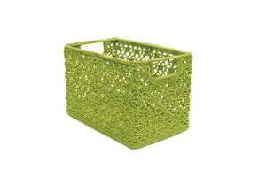 Mode Crochet 12X7X8 Wire Basket, Citron Green