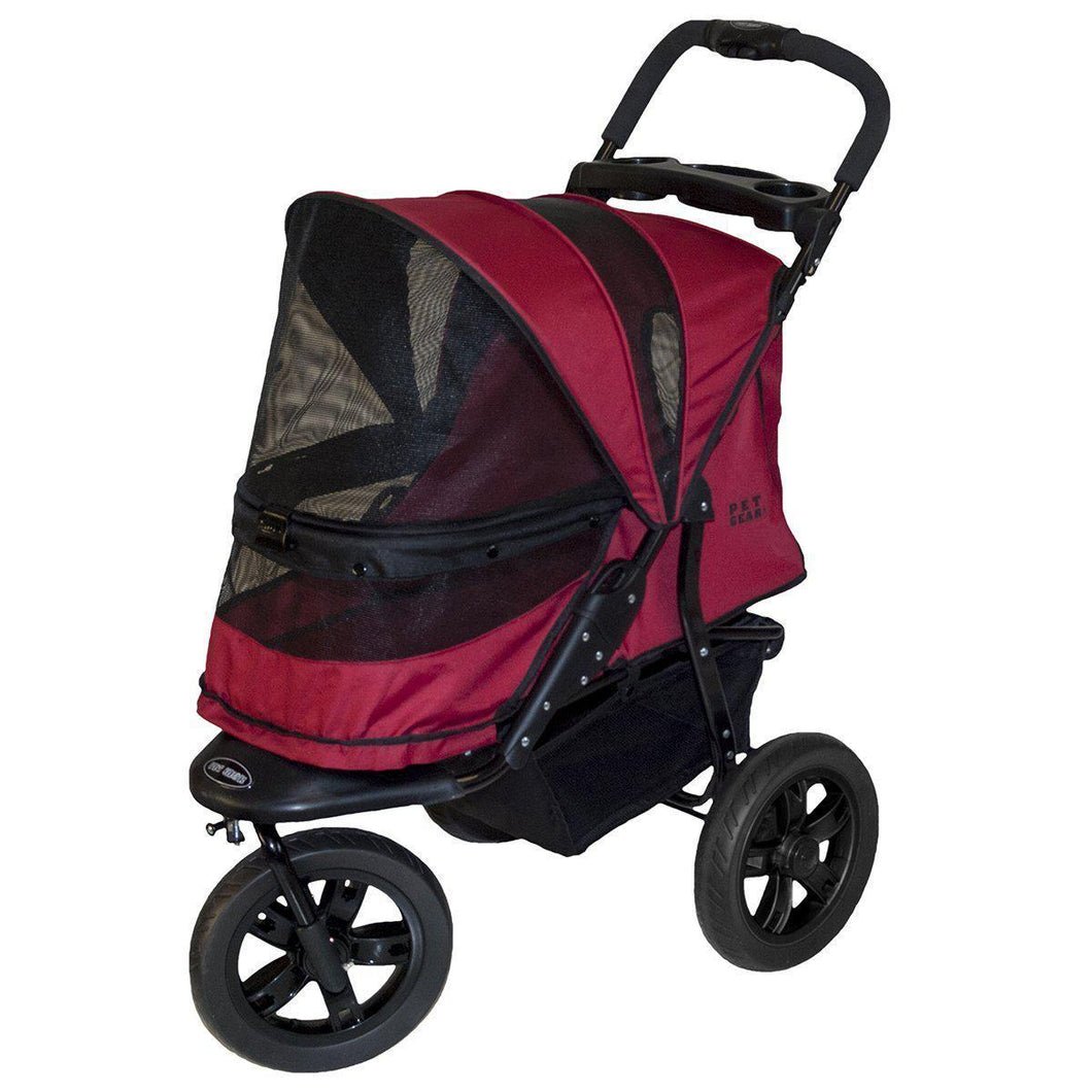 AT3 No-Zip Dog Stroller Rugged Red
