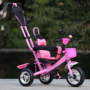 &Baby Pushchair Baby Tricycle, Convertible Pedal Trike Push Bike Easy Steer Tricycle Stroller Toy Car (Color : #-2)