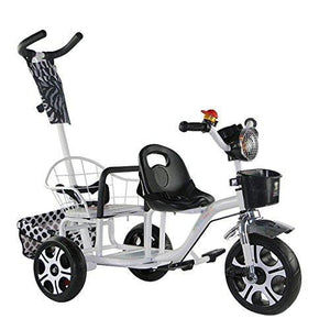 &Baby Pushchair Push Bike Twins Two-tire Chair Can Sit and Lie Folding Car Twin Stroller