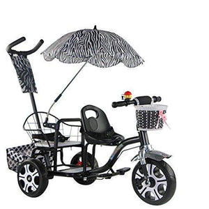 &Baby Pushchair Twin Babies Push Bike Twins Two-tire Chair Can Sit and Lie Folding Car