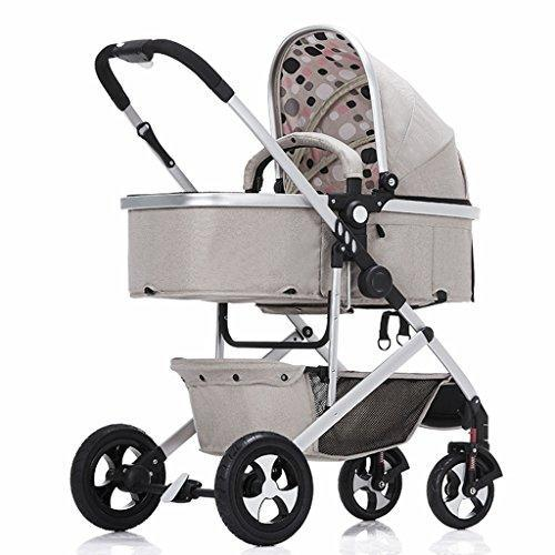 &Baby Stroller Baby Carriage Ultralight Baby Stroller Folding Baby Carriage Baby cart Can sit and Lie (Color : 4#.)