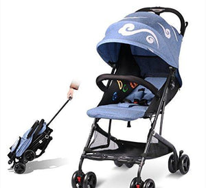 &Baby Stroller Baby Cart Lightweight Folding/Baby Stroller Ultralight and Small Portable/Drawbar Type Summer (Color : 2#)