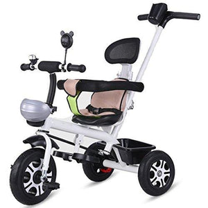 &Baby Stroller Children's Tricycle Bicycle Children's Trolley 1-3 Years Old Titanium Empty Wheel (Color : 4#)