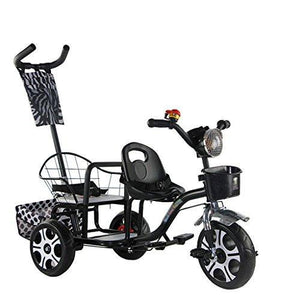&Baby Stroller Push Bike Twin Stroller Twins Two-tire Chair Can Sit and Lie Folding Car (Color : 2#)